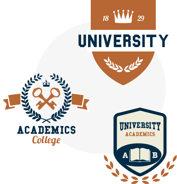 Various university and greek logos